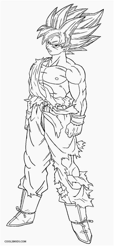 goku ssj coloring pages coloring home