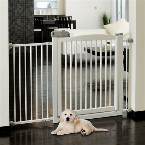 Richell Large One Touch Pet Gate   Origami White at Hayneedle