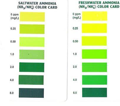 saltwater c s hagen api ammonia test results don 39 t match chart