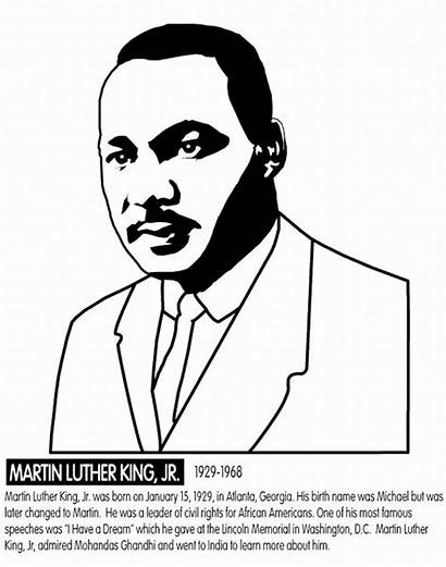 Luther Coloring Martin King Jr Pages Rose
