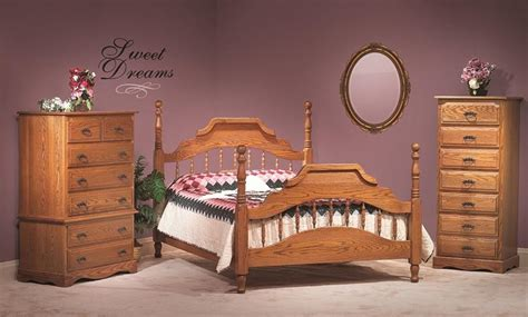 amish made beds american made oak bedroom furniture 1246