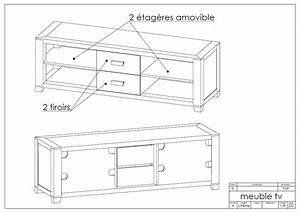 Plan De Meuble : meuble de t l vison de style scandinaveart 39 b n ~ Melissatoandfro.com Idées de Décoration