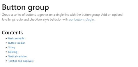 bootstrap button groups