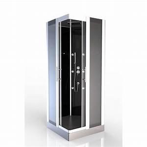 cabine de douche premium carree 90cm achat vente With porte de douche coulissante avec radio mp3 salle de bain