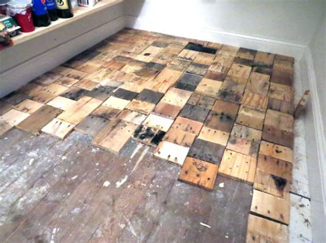 how to make a wood floor our diy pallet wood floor cost only 100 bored panda