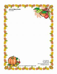 Thanksgiving letterhead with pumpkin letterhead for Thanksgiving templates word