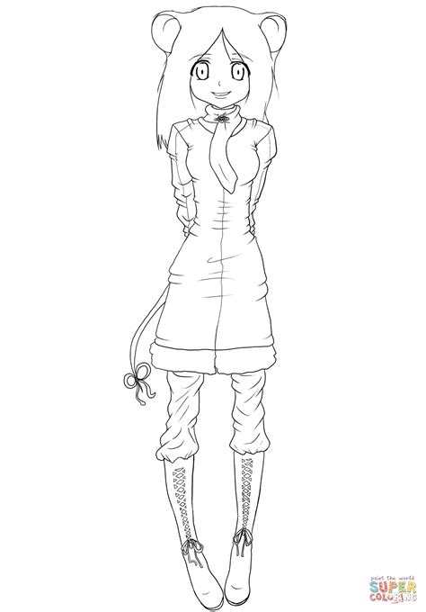 Anime Kleurplaat by Anime Mouse By Gabriela Gogonea Coloring Page Free
