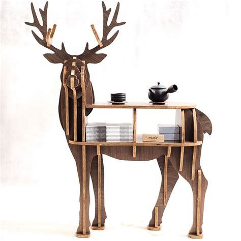 "Aliexpress.com : Buy New!J&E High end ""S"" size lookback reindeer table Wooden home furniture"