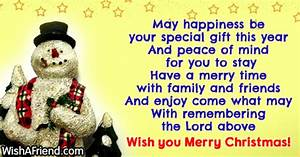 May happiness be your special t Christmas Blessings
