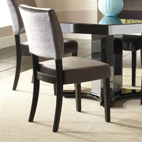 standard furniture parisian side chair in charcoal gray