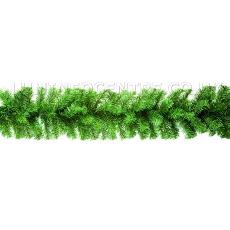 premier 2 7m plain green christmas garland