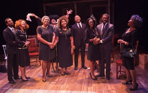 theater review dearly departed finds laughs