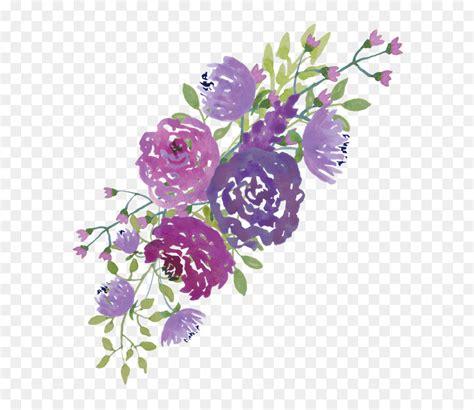 wedding invitation watercolour flowers purple clip art