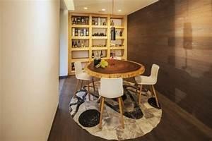 meubles salle a manger 87 idees sur l39amenagement reussi With meuble salle À manger avec table salle À manger ronde design