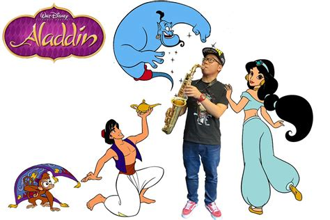 Disney Aladdin theme song A whole new world (Saxophone