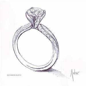 drawn ring engagement ring pencil and in color drawn With how to draw a wedding ring