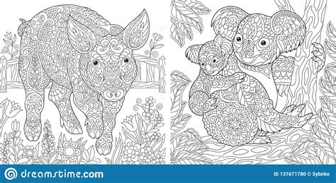 coloring pages coloring book  adults cute pig  chinese  year symbol colouring