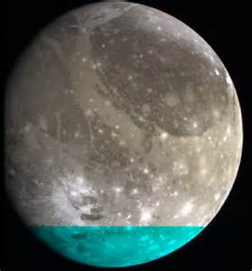 Ganymede Moon Color