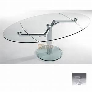 Table Verre Extensible : table repas contemporaine extensible verre et acier extand ~ Teatrodelosmanantiales.com Idées de Décoration