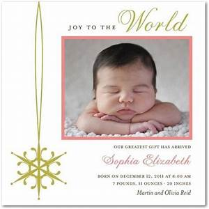17 Best ideas about Christmas Birth Announcements on