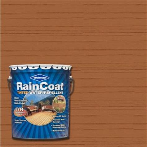 Wolman Raincoat Deck Stain by Wolman 5 Gal Raincoat Tinted Hickory Water