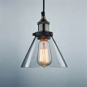 industrial vintage glass l shade pendant ceiling light