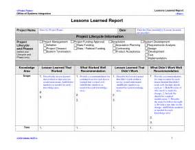 lessons learned template doliquid