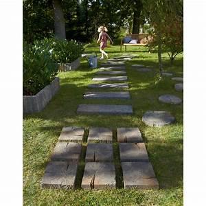 pave stonewood en beton imitation bois l 225 x l 225 With amazing decoration allee de jardin 5 terrasse et sol exterieur jardin leroy merlin