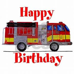 Fire Truck Birthday Card Greeting Card by markmoore