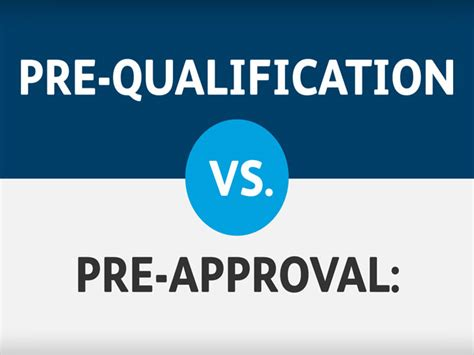 Home Loan Pre-Approval vs Pre-Qualified