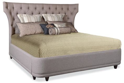 King Platform Bed With Fabric Headboard by A R T Furniture Inc Classic King Platform Bed With Curved