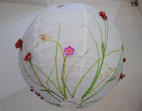 papier lampe wiesenblumen xxl von la fee des champs auf