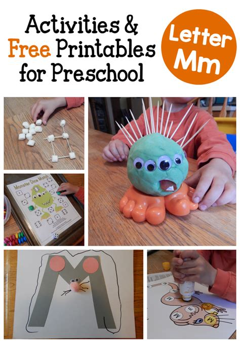 letter m activities for preschool the measured 411 | letter M activities for preschoolers