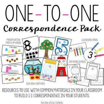 one to one correspondence activity pack counting amp number 261 | original 1096105 1