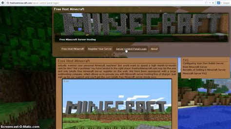 minecraft hosting server youtube
