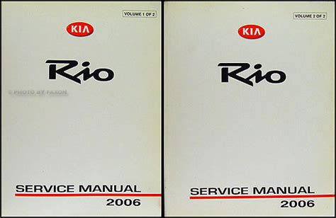 free service manuals online 2007 kia rio user handbook 2006 kia rio repair shop manual original 2 vol set
