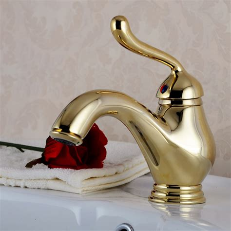 Polished Brass Bathtub Faucets by Luxury Single Lever Bathroom Faucet In Polished Brass