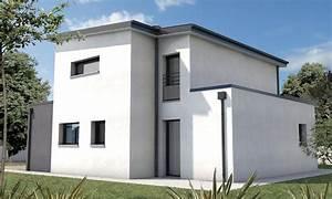 maison cubique toiture monopente talmont st hilaire With plan de maison cubique 11 maisons sur mesure 44 56 85 depreux construction