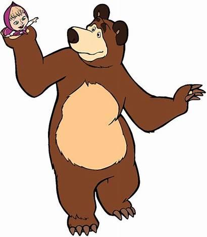Masha Bear Cartoon Clip Clipart Animation Animated