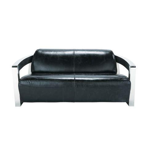 canapé 2 places fauteuil assorti canapé cuir 2 places darwin maisons du monde