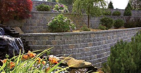 Unilock Color Options For Retaining Walls With Warmth And
