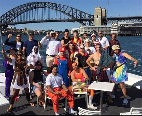 Parramatta Boat Cruise by Parramatta Eels And Wests Tigers Enjoy Fancy Dress Harbour
