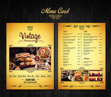 menu card design  behance