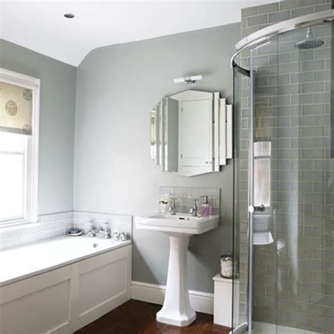 White And Gray Bathroom Ideas Grey Bathroom Bathrooms Design Ideas Image Housetohome Co Uk