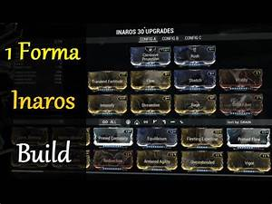 Warframe Builds Inaros Build 1 Forma YouTube