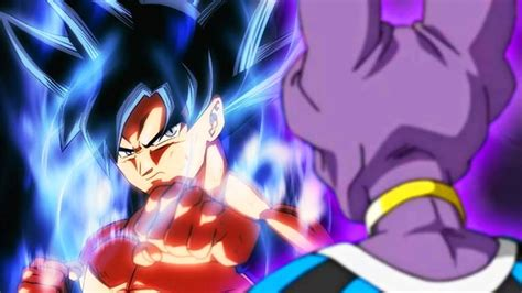 ultra instinct goku  beerus rematch  dragon ball