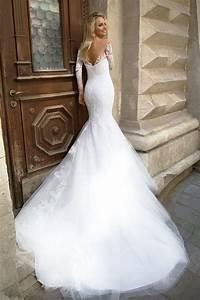 robe de mariee sirene avec longue traine With robe de mariée sirene dentelle manche longue