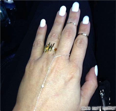 kim kardashian tweets engagement ring from kanye west