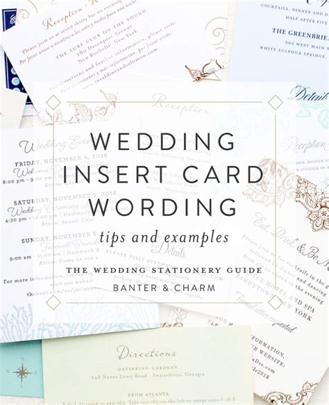 Insert Card Wording Samples The Wedding Stationery Guide