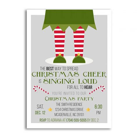 christmas invitations christmas invitation elf christmas